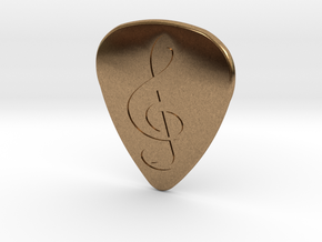 Treble Clef Plectrum - 2mm in Natural Brass