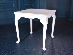 1:24 Queen Anne Square Dining Table in White Natural Versatile Plastic