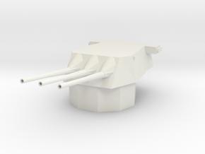 1/144 Scale Triple 8 Inch Gun  in White Natural Versatile Plastic