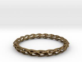 H Bracelet Smooth, Medium Size, d=65mm in Natural Bronze: Medium