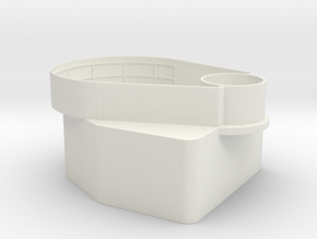 1/96 Tear Drop Gun Tub  Fletcher Class in White Natural Versatile Plastic