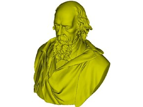 1/9 scale Alfred Lord Tennyson bust in Frosted Ultra Detail