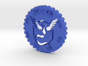 Pokemon Go Team Mystic Challenge Coin in Blue Strong & Flexible Polished