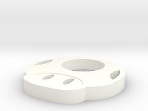 Mario Mushroom in White Processed Versatile Plastic