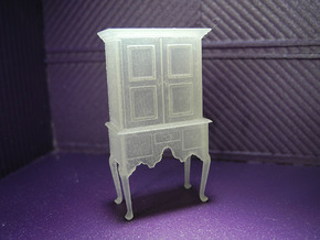 1:48 Queen Anne Highboy Cabinet in Smooth Fine Detail Plastic
