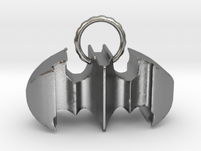 Batman keychain (or necklace ) in Natural Silver