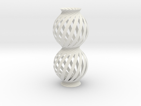 Lamp Ball Twist Spiral Column Fold and Cut in White Natural Versatile Plastic