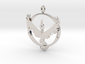 Pokemon Go Team Valor Pendant in Rhodium Plated Brass