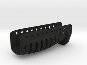 Airsoft Shotgun Forward Grip in Black Natural Versatile Plastic