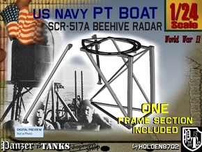 1-24 PT Boat Beehive Radar Frame in Smooth Fine Detail Plastic