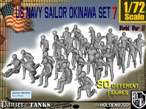 1/72 US Navy Okinawa Set 7 in Smooth Fine Detail Plastic