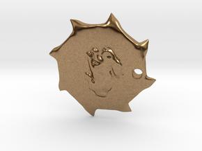 PendantPrint in Natural Brass