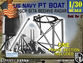 1-30 PT Boat Beehive Radar Frame in Smooth Fine Detail Plastic