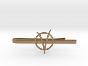 V for Vendetta Tie Clip in Natural Brass