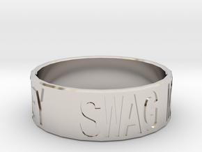 """""""Swag Money"""" Ring, 24mm diameter in Platinum"""