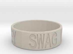 """Swag Money"" Ring, 24mm diameter in Natural Sandstone"