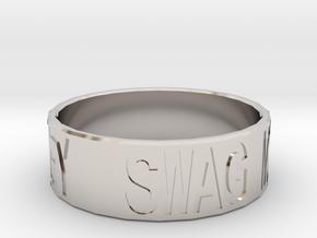 """Swag Money"" Ring, 24mm diameter in Rhodium Plated Brass"