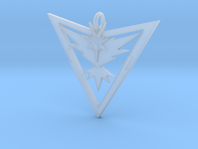 Pokémon Go Team Instinct Pendant in Smoothest Fine Detail Plastic