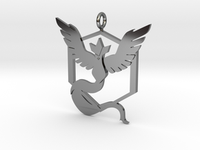 Pokémon Go Team Mystic Pendant in Fine Detail Polished Silver