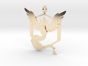Pokémon Go Team Mystic Pendant in 14k Gold Plated Brass