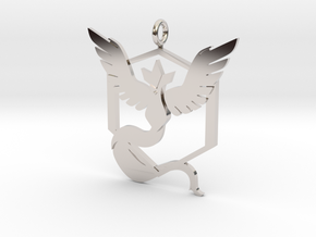 Pokémon Go Team Mystic Pendant in Rhodium Plated Brass