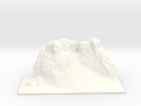 Mount Rushmore 89mm in White Processed Versatile Plastic