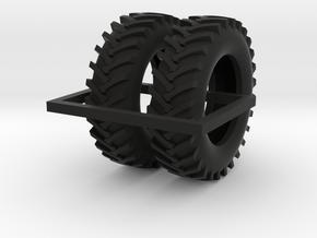 1/64 20.8-42 R1 Tractor Tires in Black Natural Versatile Plastic