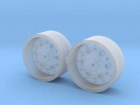 1/64 42 inch John Deere  Rear Wheels in Smooth Fine Detail Plastic