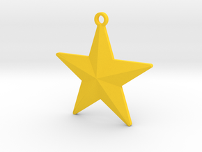 Christmas Tree Star in Yellow Processed Versatile Plastic