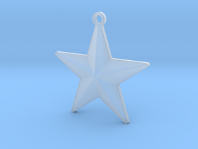 Christmas Tree Star in Smooth Fine Detail Plastic