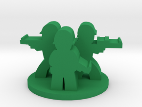 Game Piece, WW2 Allied Unit in Green Processed Versatile Plastic