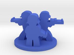Game Piece, WW2 German Unit in Blue Processed Versatile Plastic
