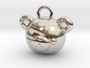 CUTEY BEAR PENDANT in Platinum
