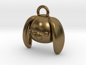 CUTEY BUNNY PENDANT in Natural Bronze