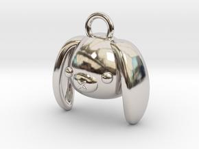 CUTEY BUNNY PENDANT in Platinum