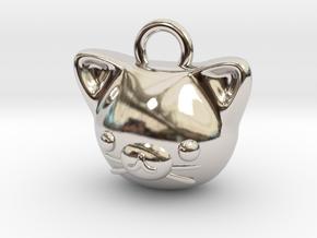 CUTEY KITTY PENDANT in Platinum
