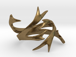 Antler Ring Size 8 in Natural Bronze