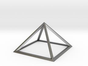 Giza Pyramid in Natural Silver
