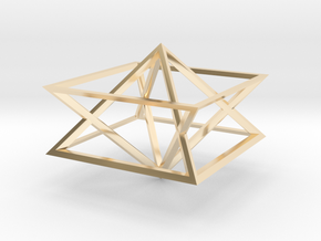 Giza Pyramid Merkaba Vehicle in 14K Yellow Gold