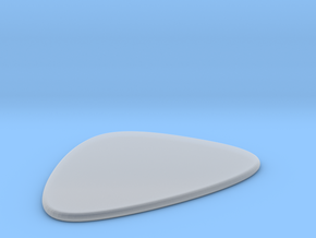 Guitar Pick in Smooth Fine Detail Plastic