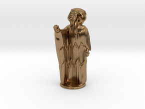 Ra in Robes with hand device - 20 mm in Natural Brass