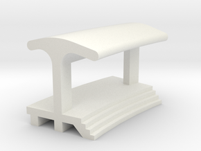 Curved Inside Platform - With Shelter in White Natural Versatile Plastic