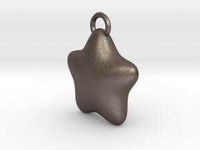 LITTLE STAR in Polished Bronzed Silver Steel