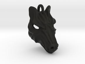 Plastic Zebra Small Pendant in Black Natural Versatile Plastic