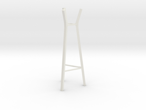 1:24 Steelwood Coat Rack in White Natural Versatile Plastic