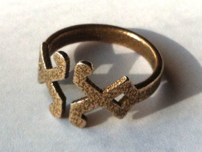 Decor Ring - US Size 7 in Stainless Steel
