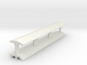 Straight, Longest Platform - With Shelter in White Strong & Flexible