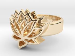 US6.5 Ring XXV: Tritium (Silver) in 14k Gold Plated Brass