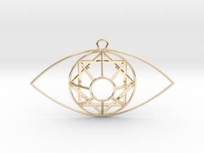Eye Of Mel-Giza-Dek  in 14k Gold Plated Brass