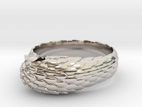 US6.5 Snake Ring: Tritium in Platinum